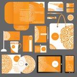 艺术品企业公司本体模板向量 免版税库存照片