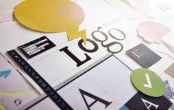 艺术品企业公司本体模板向量 免版税库存图片