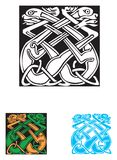 艺术品凯尔特符号纹身花刺 图库摄影