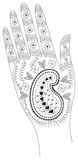 艺术品印度纹身花刺 皇族释放例证