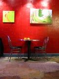 艺术品咖啡馆 免版税库存照片