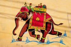 艺术品大象印地安人 库存图片