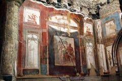 艺术品赫库兰尼姆废墟,埃尔科拉诺意大利 免版税图库摄影