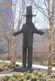艺术品雕塑在城市庭院公园,街市圣路易斯,密苏里 图库摄影