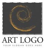 艺术商标设计 免版税库存照片