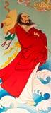 艺术国画样式寺庙墙壁 免版税图库摄影