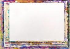艺术图画被胶合的纸片剂 免版税库存图片