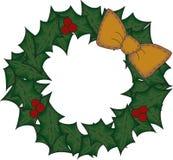 艺术圣诞节伙计花圈 免版税库存图片