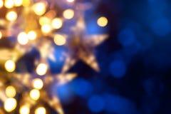 艺术圣诞节假日光 免版税库存照片