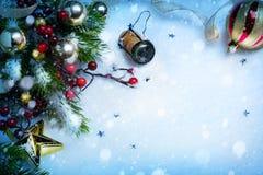 艺术圣诞节和新年党背景 库存图片