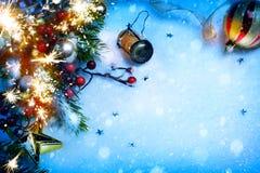 艺术圣诞节和新年党背景 库存照片
