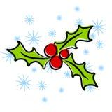 艺术圣诞节夹子霍莉 库存照片