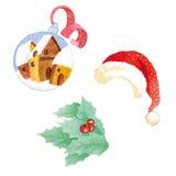 艺术圣诞节夹子 库存例证