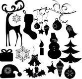 艺术圣诞节夹子 免版税库存照片