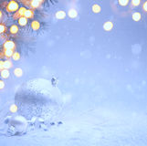 艺术圣诞节邀请背景 免版税图库摄影