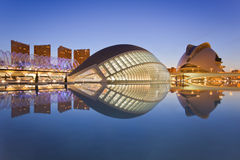 艺术城市博物馆s科学巴伦西亚 免版税库存照片