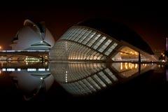 艺术城市科学巴伦西亚 免版税图库摄影