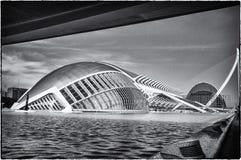 艺术城市科学西班牙巴伦西亚 图库摄影
