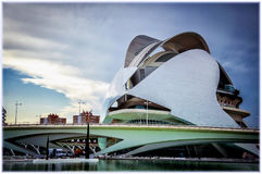 艺术城市科学西班牙巴伦西亚 免版税图库摄影