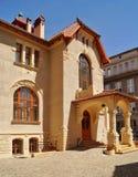 艺术城市罗兹,波兰的Nouveau建筑学 免版税库存照片