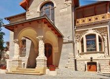 艺术城市罗兹,波兰的Nouveau建筑学 库存图片