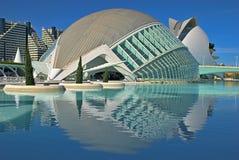 艺术城市hemisf ric科学巴伦西亚 免版税库存照片