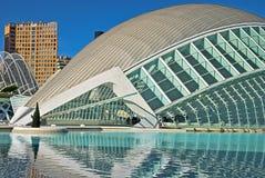 艺术城市hemisf ric科学巴伦西亚 库存照片
