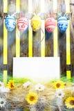 艺术复活节彩蛋背景范围看板卡空白春天花怂恿 免版税图库摄影
