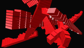 艺术多维数据集交叉点向量 库存图片