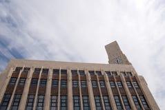 艺术大厦clocktower deco 免版税库存图片