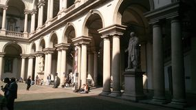 艺术大学法院米兰 免版税库存照片