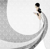 艺术夫妇nouveau婚礼 免版税库存照片