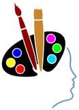 艺术头脑 向量例证