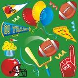 艺术夹子橄榄球图标当事人 图库摄影