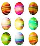艺术夹子洗染了亲切的复活节彩蛋 库存图片