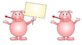 艺术夹子流感猪猪 免版税库存照片