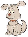 艺术夹子灰色小狗向量 免版税库存照片