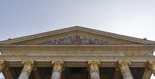 艺术宫殿在布达佩斯,匈牙利冠上 复制浆糊空间 库存图片