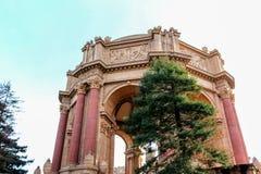 艺术宫殿在旧金山加利福尼亚 库存照片