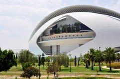 艺术宫殿在巴伦西亚,边 图库摄影