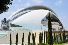 艺术宫殿在巴伦西亚,边 库存照片