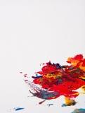 艺术家五颜六色的油漆 免版税库存照片