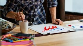 艺术家人绘的想象力天分技术 图库摄影