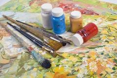 艺术家位置 免版税图库摄影