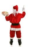 艺术家充分的后方圣诞老人视图 库存图片
