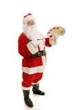艺术家充分的圣诞老人视图 库存照片