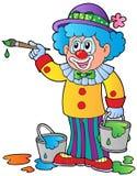 艺术家动画片小丑 免版税库存图片