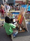 艺术家和教师 免版税库存图片