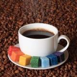 艺术家咖啡 免版税库存照片