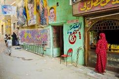 艺术家商店在开罗老镇埃及 免版税库存照片